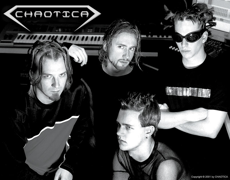 CHAOTICA (2001) Original Lineup (Left to Right: Shane Semler, Danny Chaotic, Johnny Evil, Gary Toth)