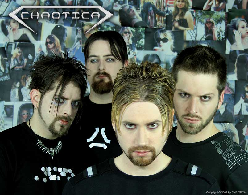 CHAOTICA (2008) (Left to Right: Ratprick, Jeff-X, Danny Chaotic, Gary Toth)
